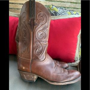 Lucchese Shoes   Nicole Rust Cowboy